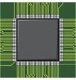 Computer microchip vector image