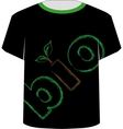 T Shirt Template- eco friendly design vector image