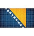 Abstract Mosaic flag of Bosnia and Herzegovina vector image