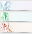 Line wave colorful header web collection vector image vector image