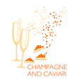 champagne poster vector image vector image