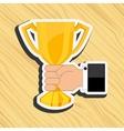 gold award design vector image