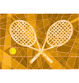 Clay court tennis vector image