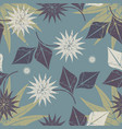 decorative seamless pattern with tropical flowers vector image