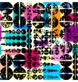 Geometric pattern with grunge effect vector image