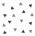 Gray Black Triangle Abstract White Background vector image