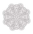 henna paisley tatoo mandala Mehndi style vector image
