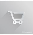 Shopping Cart Flat Icon Design vector image