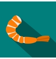 Shrimp icon in flat style vector image