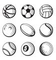 sport balls set vector image