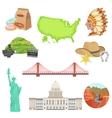 USA National Symbols Set vector image