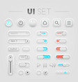 White UI set vector image