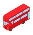 Double decker bus icon cartoon style vector image