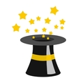 Magician hat icon flat style vector image