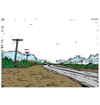 Country Road Background vector image vector image