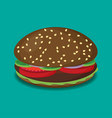 hamburger flat design vector image