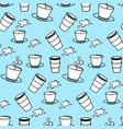 seamless pattern with coffee cup vector image