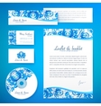 Floral theme business style template vector image