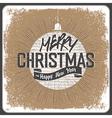 vintage christmas card retro vector image vector image