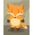 Cute Little Fox Cartoon vector image