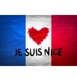 The national waving flag of France Blue white vector image