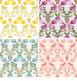carnation and tulip seamless pattern vector image
