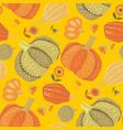 cute simple naive pumpkin seamless pattern vector image