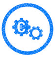 euro mechanics rounded icon rubber stamp vector image