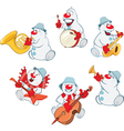 Funny Christmas Snowman for you Design vector image