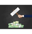npv net present value with vector image