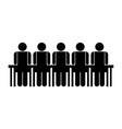 people in meeting symbol vector image