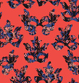 Seamless pattern with carnival mask vector image
