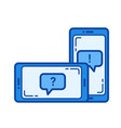 student chat line icon vector image
