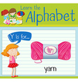 Flashcard letter Y is for yarn vector image