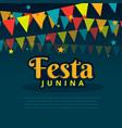 latin american festa junina festival vector image
