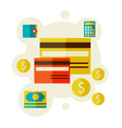 bank cards vector image vector image