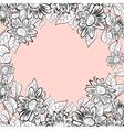 daisy flowers frame vector image