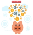 Concept of Investment Banking Collect Finance vector image
