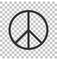Peace sign  Dark gray icon on vector image