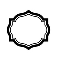 Black frame picture Beautiful simple design vector image