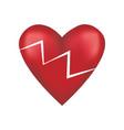 broken red love heart vector image