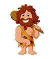 cartoon caveman smiling vector image
