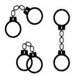 handcuff black vector image