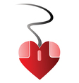 Heart PC mouse vector image