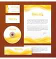 Realistic oil business style template vector image