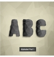triangular dark alphabet A B C vector image