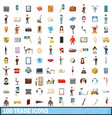 100trade icons set cartoon style vector image