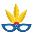 brazil carnival mask feathers vector image