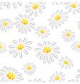 Daisy seamless pattern vector image