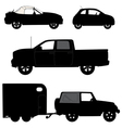 Transportation icons collection cars vector image